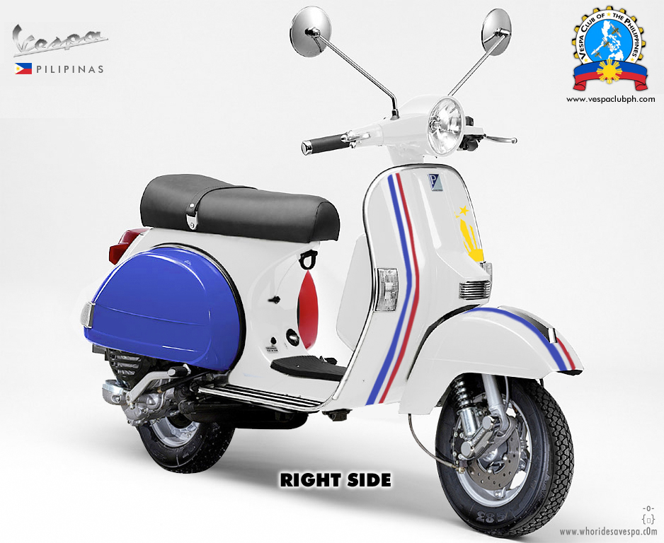 Vespa Paint Colors http://whoridesavespa.com/2009/01/29/vespa-pilipinas-my-tri-color-paint-scheme/